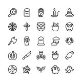 Christmas, Halloween, Party and Celebration Line Vector Icons 22 Royalty Free Stock Photography