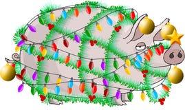 christmas ham διανυσματική απεικόνιση