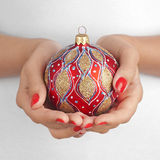 Christmas in hand Stock Image