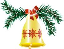 Christmas hand bell Royalty Free Stock Photography