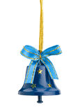 Christmas hand bell with a bow Stock Photography