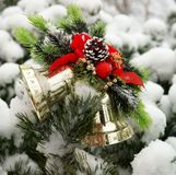 Christmas hand bells Royalty Free Stock Image
