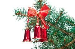 Christmas hand bells Stock Photography