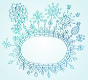 Christmas hand drawn background Stock Photography