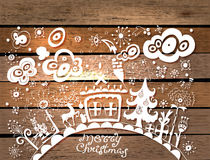 Christmas hand drawn background Stock Image