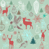 Christmas hand drawn background Xmas decorations Royalty Free Stock Images