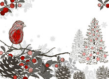 Christmas hand drawn background for xmas design vector illustration