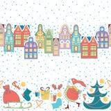 Christmas hand drawn border. Vector illustration. Royalty Free Stock Photography