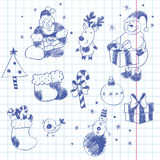 Christmas hand drawn design elements Royalty Free Stock Images