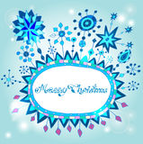 Christmas hand drawn doodle background Stock Photos
