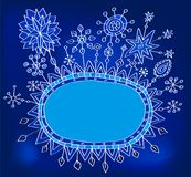 Christmas hand drawn doodle background Royalty Free Stock Photos