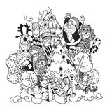 Christmas hand drawn Doodle Set Royalty Free Stock Photography