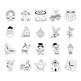Christmas Hand Drawn Doodles Royalty Free Stock Photo