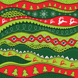 Christmas hand-drawn ethno pattern, tribal background. Merry Christmas design. It can be used for wallpaper, web page and others. Vector stock illustration