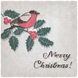 Christmas hand-drawn grungy background Royalty Free Stock Images