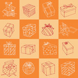 Christmas hand drawn icons set.  illustration Royalty Free Stock Images
