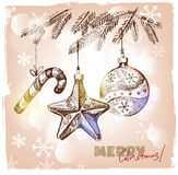 Christmas hand drawn illustration Stock Photo