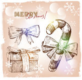 Christmas hand drawn illustration Stock Images