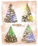Christmas hand drawn illustration Royalty Free Stock Photos
