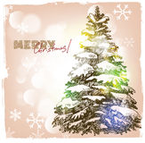 Christmas hand drawn illustration Royalty Free Stock Photo
