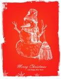 Christmas hand drawn illustration. Christmas and happy new year hand drawn illustration Stock Photo