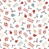 Christmas hand drawn ornament background Stock Photo