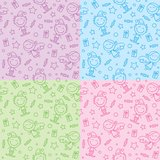 Christmas hand drawn patterns royalty free illustration