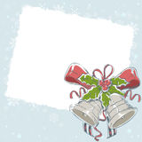 Christmas hand drawn retro postcard Royalty Free Stock Photos
