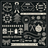 Christmas Hand Drawn Vector Set Royalty Free Stock Photo
