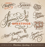 CHRISTMAS Hand Lettering Set (vector) Stock Photo