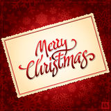 Christmas hand lettering (vector) Stock Images