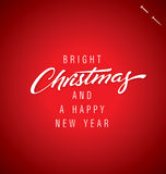 CHRISTMAS hand lettering (vector) Royalty Free Stock Photos