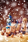 Christmas with Hand Made Toys and Presents Royalty Free Stock Images