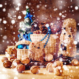 Christmas with Hand Made Toys and Presents Royalty Free Stock Image