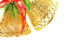 Christmas handbell. Isolation on white Royalty Free Stock Photography