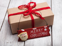 Christmas handcraft gift boxes Royalty Free Stock Photo