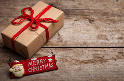 Christmas handcraft gift boxes Royalty Free Stock Photos