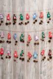 Christmas handmade calendar Stock Photos