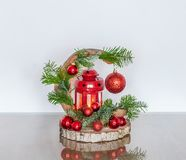 Christmas Handmade Candle Holder royalty free stock images