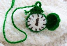 Christmas, handmade clock, xmas, gift, time Stock Photos