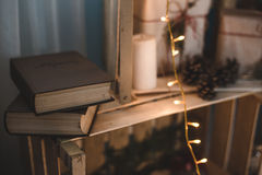 Christmas handmade Decor books. My home decor Stock Image