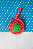 Christmas handmade felt toy Royalty Free Stock Images