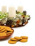Christmas handmade garland with cookies Stock Image