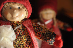 Christmas handmade toys Stock Photo