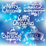 Christmas handwriting typography Royalty Free Stock Image