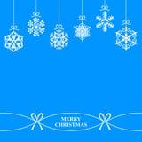 Christmas hang snowflakes Royalty Free Stock Photos