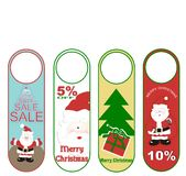 Christmas hang tags s Stock Photography