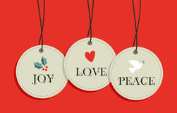 Christmas hang tags sale elements set Stock Photos