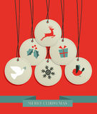 Christmas hang tags sale set Royalty Free Stock Image