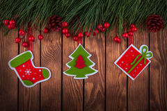 Christmas Hanging Decoration With Copy Space Stock Images